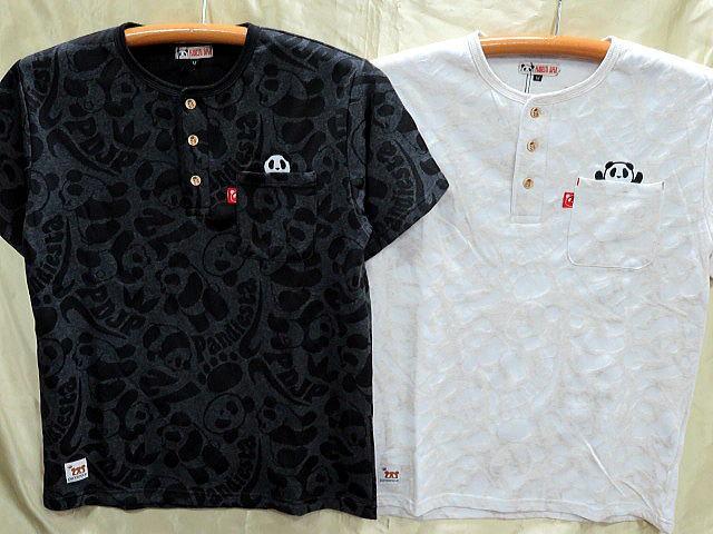 PANDIESTA JAPAN 半袖Tシャツ パンダジャガード...