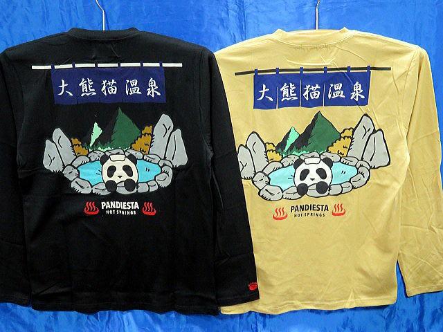 PANDIESTA JAPAN 長袖Tシャツ 温泉熊猫 パンデ...