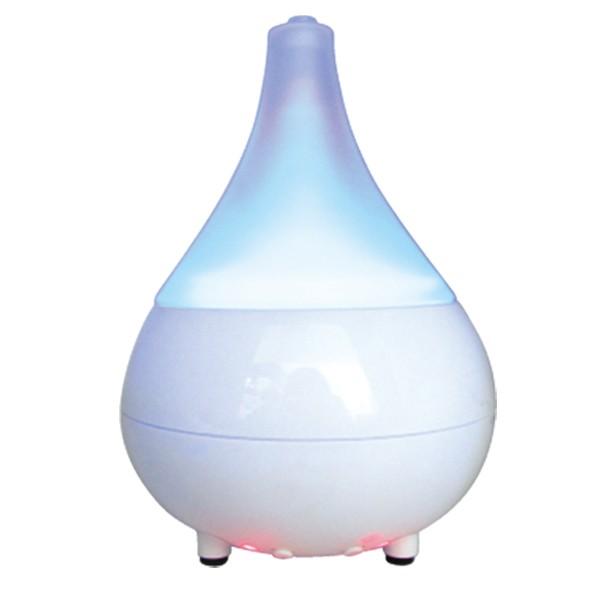 ガラスアロマランプディフューザー FL-611P 加湿器 超音波 モダン 木目 ツボ ガラス アロマ(代引不可)【送料無料】