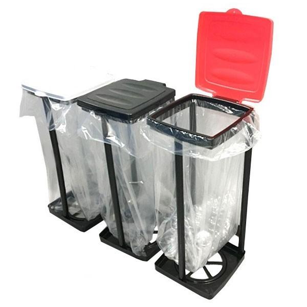 ゴミ箱ホルダー 45L フタ付き ごみ箱 分別 スリム...