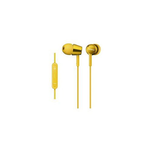 ソニー MDR-EX150IP-Y iPod/iPhone/iPad対応ダイナミック密閉型 インナーイヤーイヤホン (イエロー)(代引不可)
