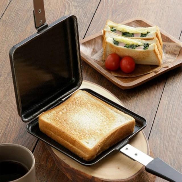 日本製 国産 鉄製トースターパン ホットサンドメ...