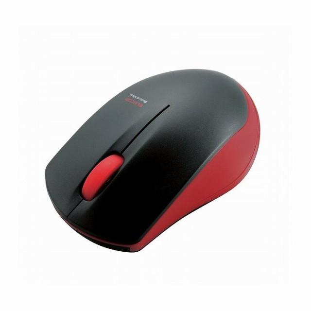 エレコム 省電力 ワイヤレス マウス 無線 ブルートゥース IR LEDセンサー 光学 左右対称 1000カウント レッド(赤) M-BT12BRRD(代引不可)