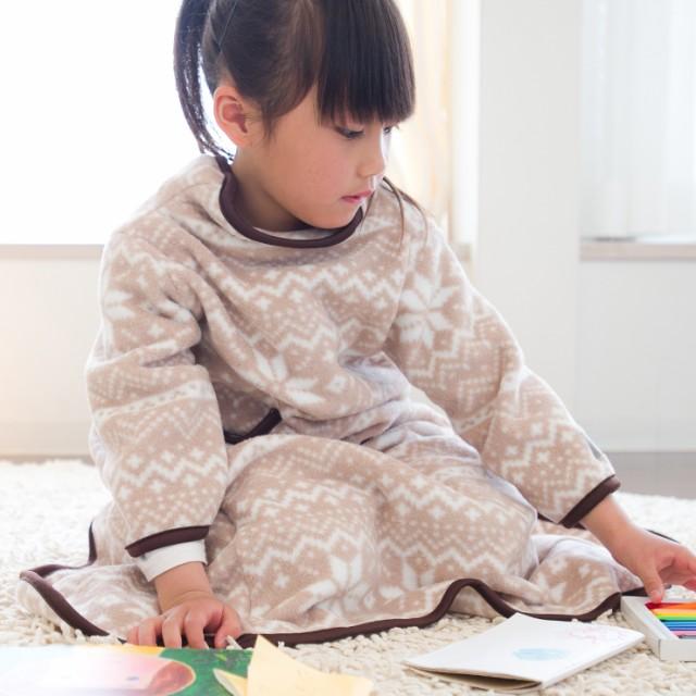 着る毛布 ヌックミィ 着るブランケット ブランケット 毛布 フリース ひざ掛け NuKME(ヌックミィ) ガウンケット ミニサイズ 着丈85cm スノ