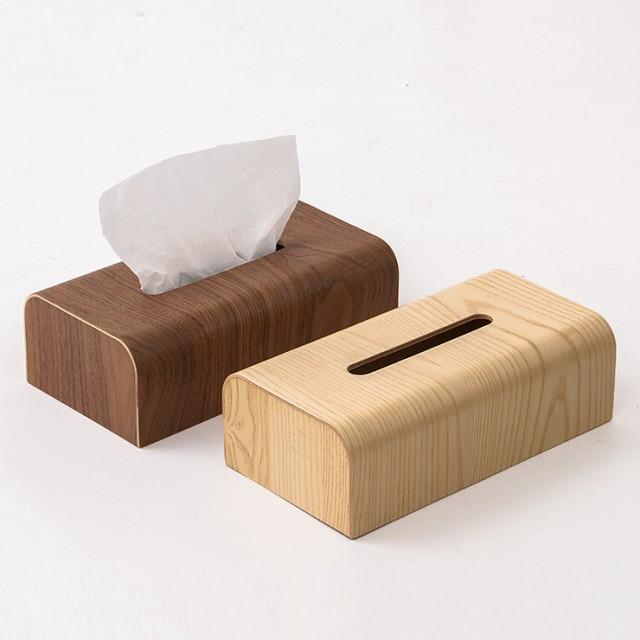 天然木 ティッシュボックス 木製 ティッシュケー...