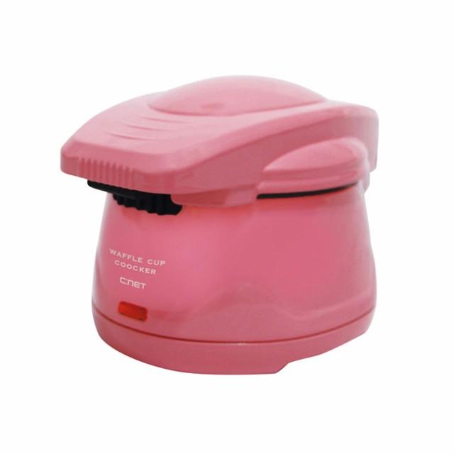 C:NET シィーネット ワッフルカップクッカー ワッフルメーカー ピンク SWM101-LPK