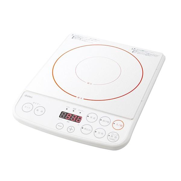 ドリテック IH調理器 1200W DI-113-WT ホワイト ...