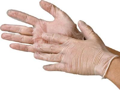 川西 ビニール使いきり手袋 粉なし 100枚入り ...