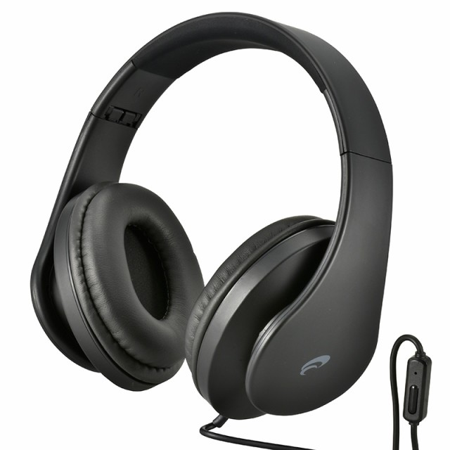 AudioComm ヘッドホン スマートフォン用 ブラック...