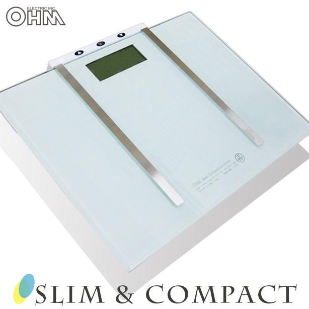 体重体組成計 デジタル HB-K115-W 08-0036 OHM オ...