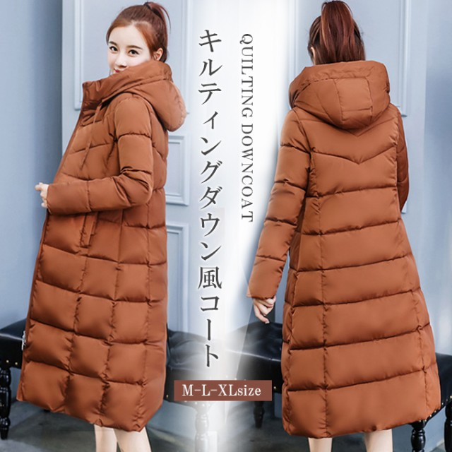 棉コート ロングコート ジャケット フード付き アウター 保温性 軽い 暖かい29tb6540