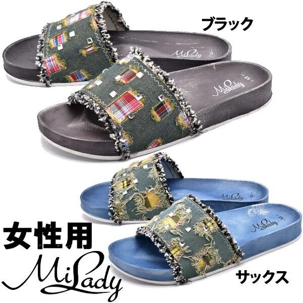 ミレディー ML506 ビンテージ チェック スライド ...