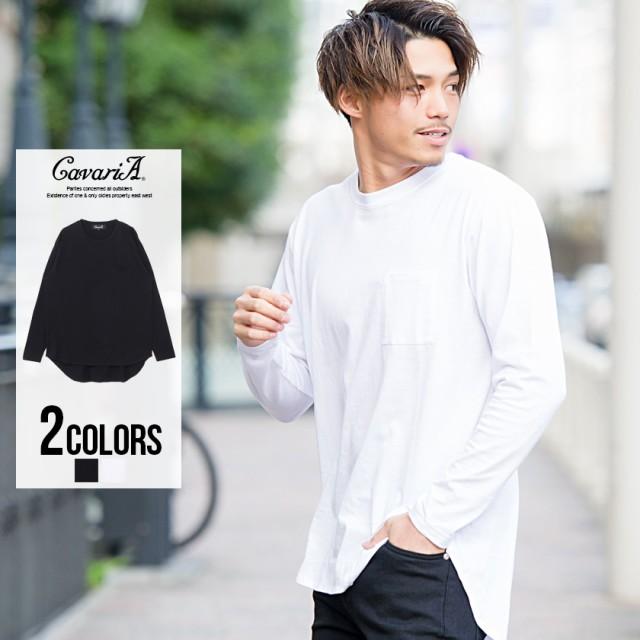 長袖Tシャツ メンズ CavariA キャバリア 天竺 ロ...