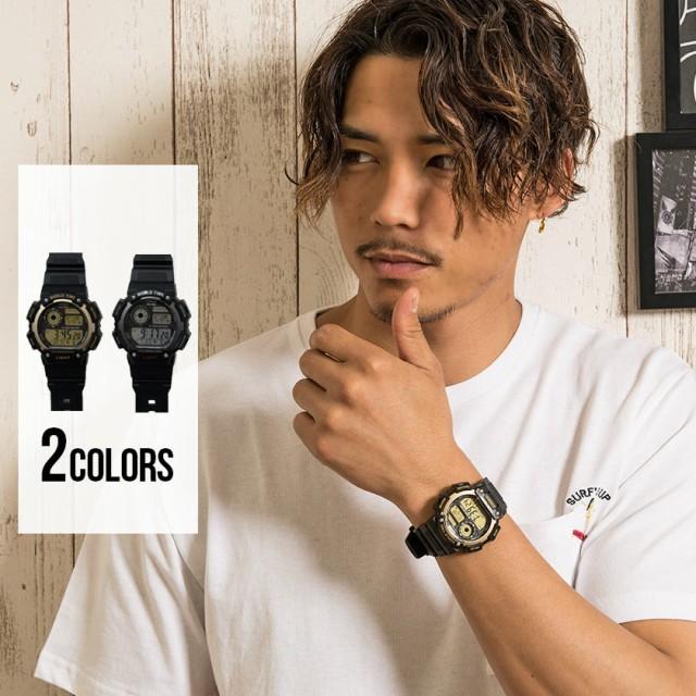 腕時計 ウォッチ メンズ CASIO カシオ ワールドタイムウォッチ 即日発送 小物 アクセサリー ブラック ユニセックス ペアルック プレゼン