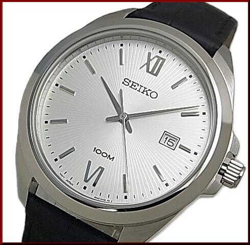 SEIKO/セイコー【クォーツ】メンズ腕時計 ブラッ...