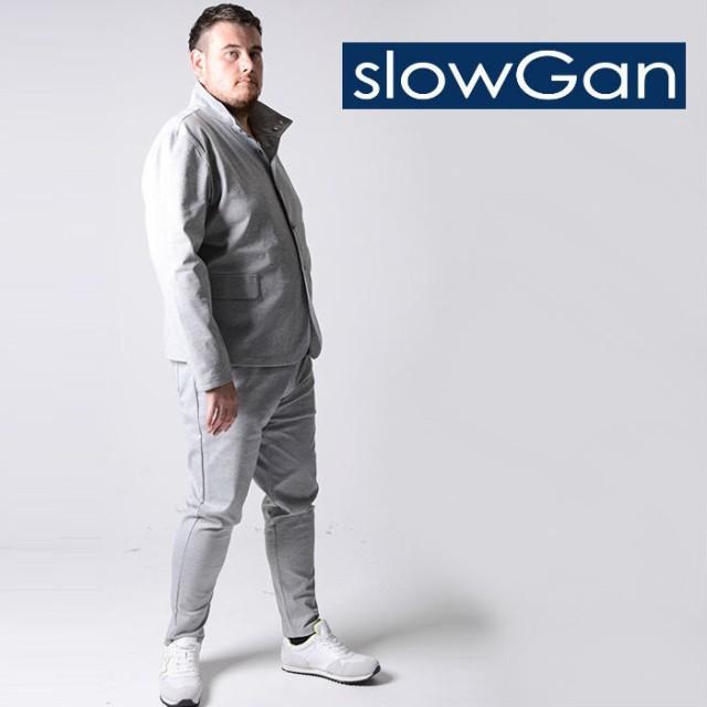 SLOWGAN スローガン レイズドネックセットアップ ...