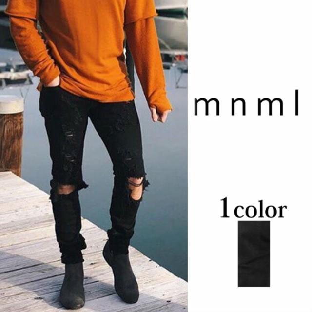 mnml【ミニマル】M47 STRETCH DENIM 17ML-AW259D...