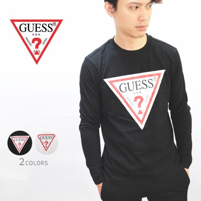 ゲス GUESS Tshirt ロゴプリント ロングTシャツ ...