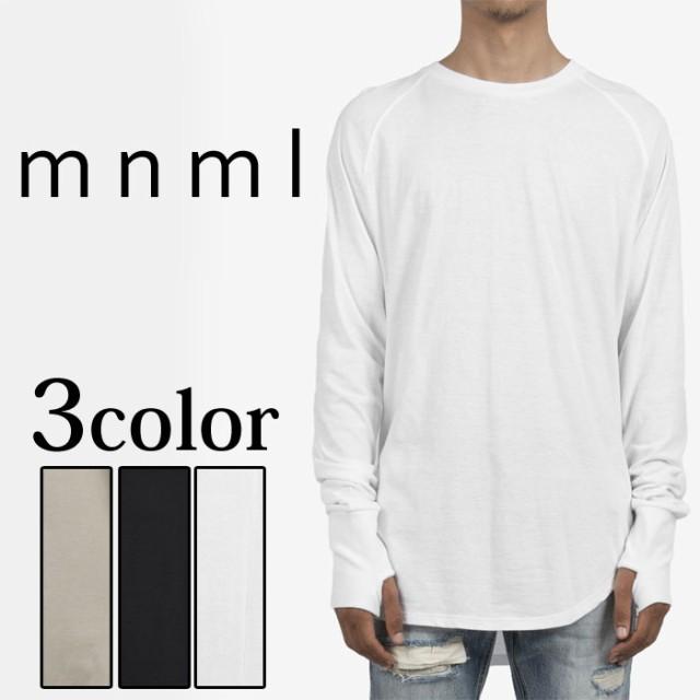 mnml ミニマル THUMBHOLE RAGLAN L/S TEE Tシャツ...