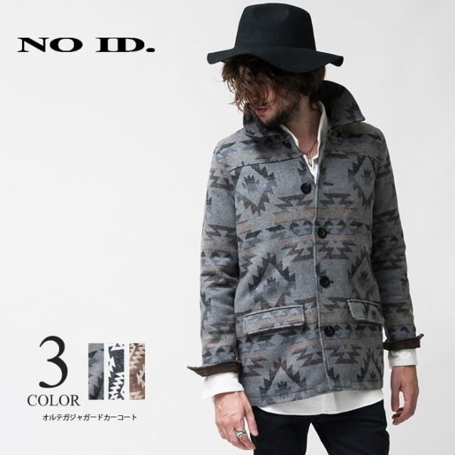 NO ID(ノーアイディ)オルテガジャガードカーコート Pコート メンズ ネイティブ アウター