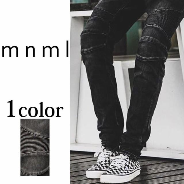 mnml ミニマル M14 STRETCH DENIM BLACK ボトムス...