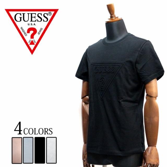 GUESS ゲス メンズ 半袖 エンボス加工 Tシャツ ト...