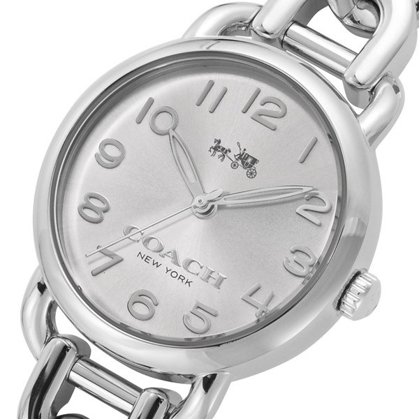 コーチ COACH クオーツ 腕時計デランシーシルバ−...