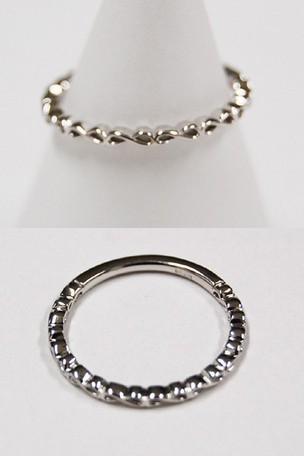 K10 ホワイトゴールド リング 指輪 アクセサリー ...