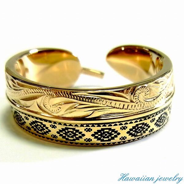 ハワイアンジュエリー リング 指輪 オルテガ柄 K1...