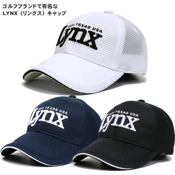 LYNX リンクス ゴルフキャップ メンズ メッシュキ...