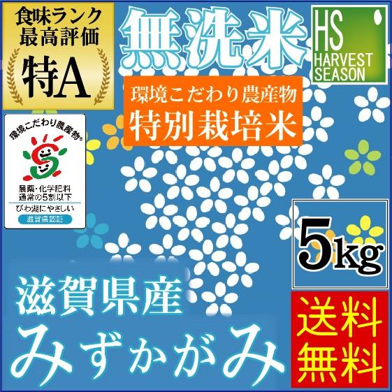 【送料無料】 無洗米 29年産 特別栽培米 滋賀県産...