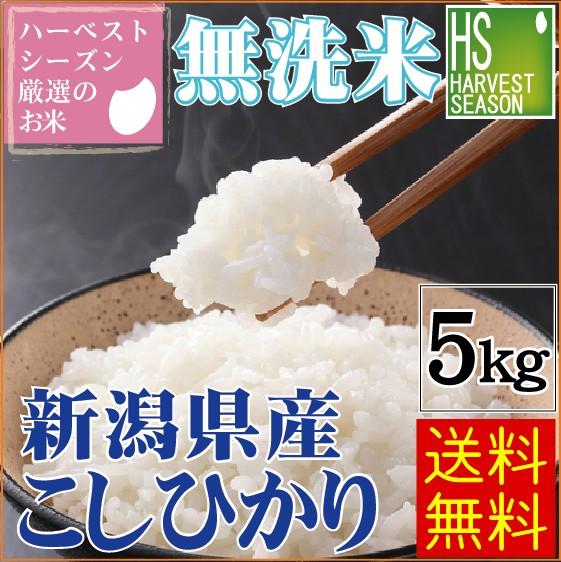 ★30年産★ 無洗米 新潟県産 コシヒカリ5kg【送料...
