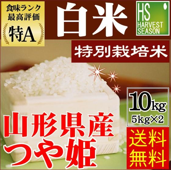30年産 白米 特別栽培米 山形県産つや姫10kg(5kg...