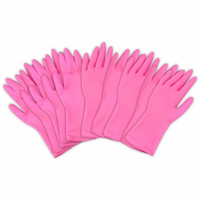 左右兼用薄型家庭用ゴム手袋(10枚入) キッチンゴ...