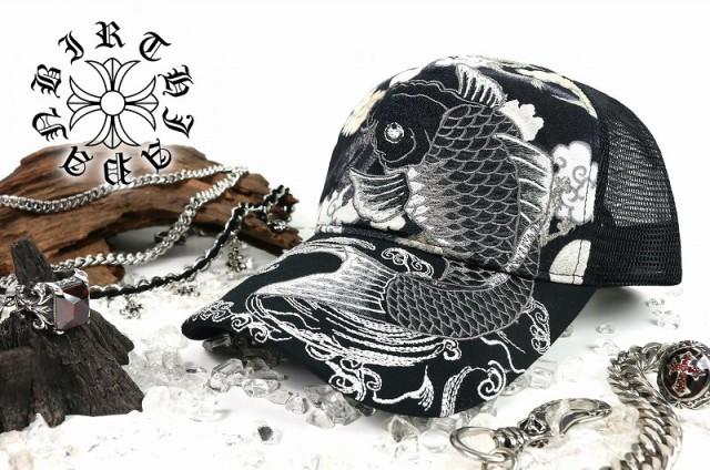 和柄 刺繍 キャップ 68 鯉 ヤクザ ヤンキー オラ...