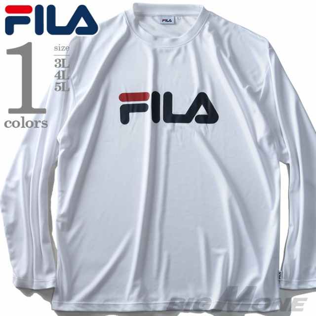 大きいサイズ メンズ FILA プリント 長袖 Tシャツ...