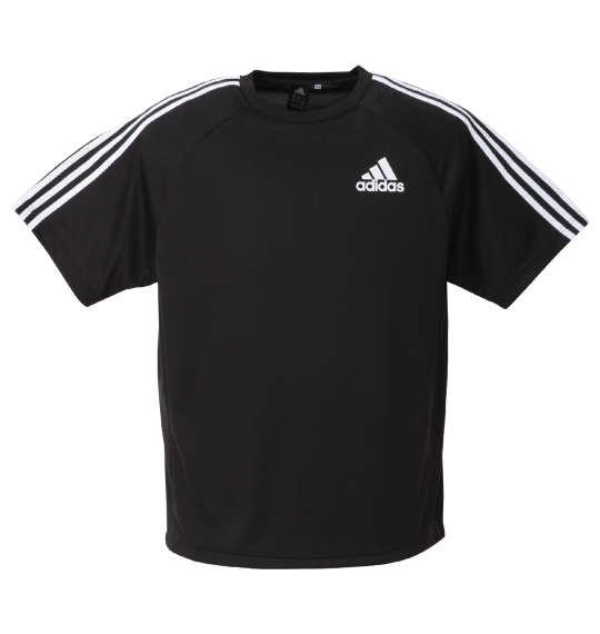 大きいサイズ メンズ adidas 半袖 Tシャツ ブラッ...