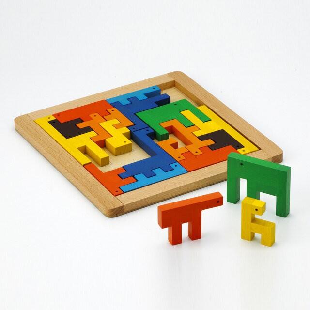 【即納】エド・インター モザイクZOO おもちゃ 木...