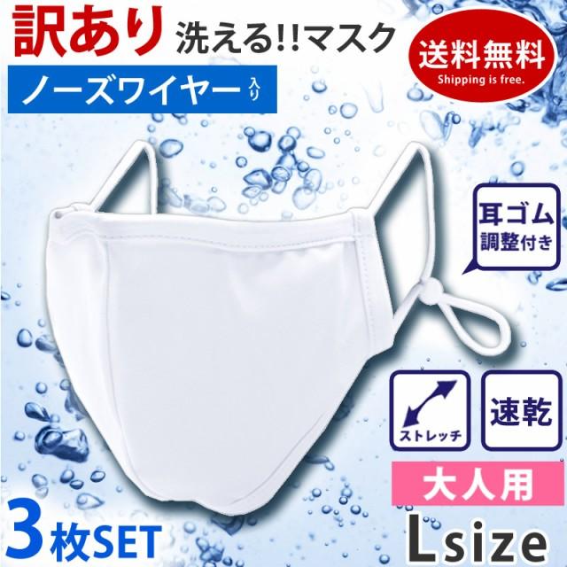 【訳あり】マスク 洗える 布マスク 3枚セット ワ...