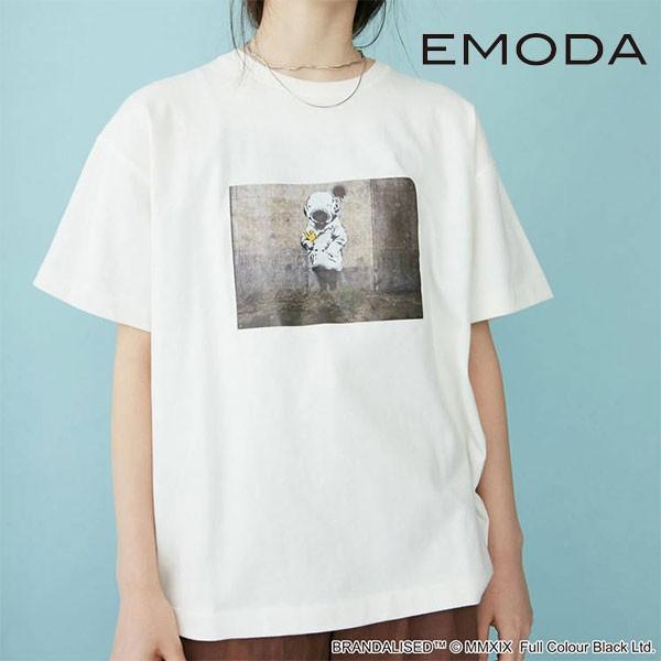 【SALE40%OFF】エモダ EMODA 通販 OVER Tシャツ Banksy Deep Sea Diver レディース トップス Tシャツ カットソー 半袖 クルーネック オー