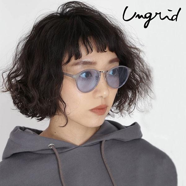 アングリッド ungrid 通販 メタルブリッジクリアフレームサングラス レディース サングラス 眼鏡 メガネ カラーレンズ メタル クリアフレ
