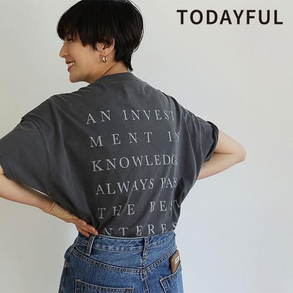 TODAYFUL トゥデイフル 19春夏 Backprint Boyfriend T-shirts バックプリントボーイフレンドティーシャツ レディース トップス tシャツ
