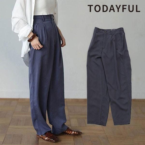 TODAYFUL トゥデイフル 10月中旬予約 Tapered Rough Pants テーパードラフパンツ レディース ボトムス パンツ テーパード シンプル ゆっ