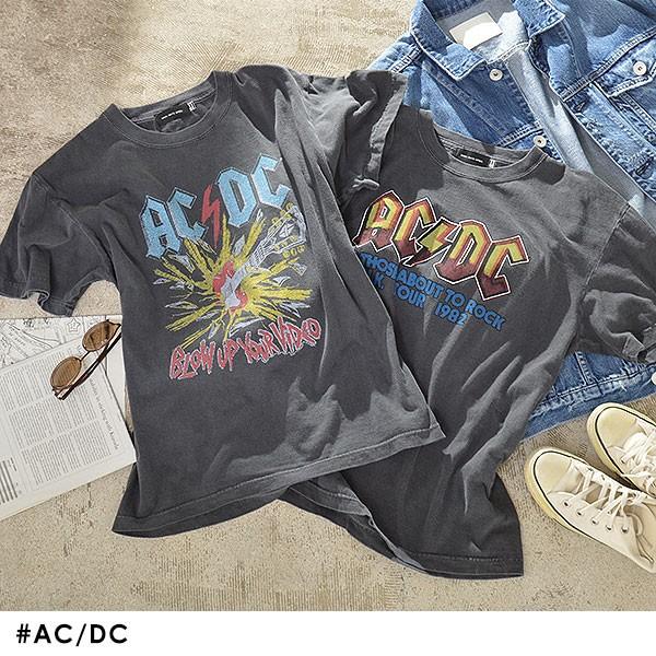 Tシャツ AC/DC レディース トップス Tシャツ エー...
