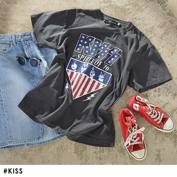 Tシャツ KISS レディース トップス Tシャツ ロッ...