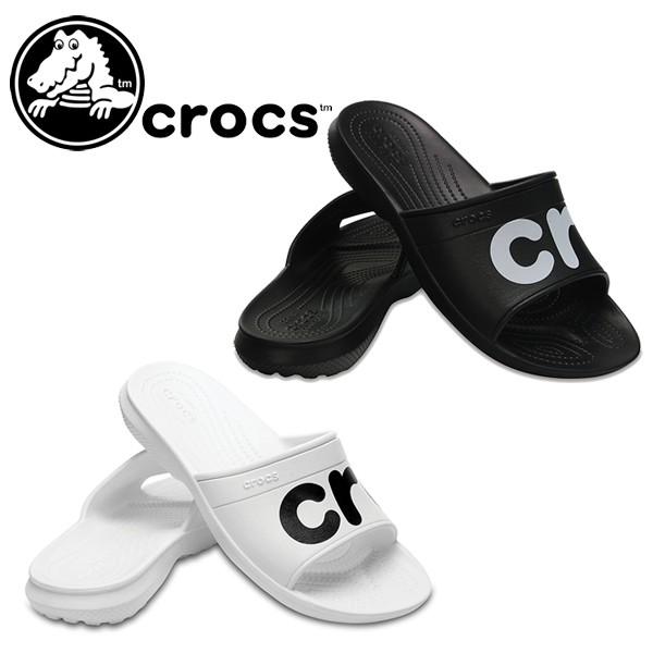 クロックス crocs Classic Graphic Slides レディ...