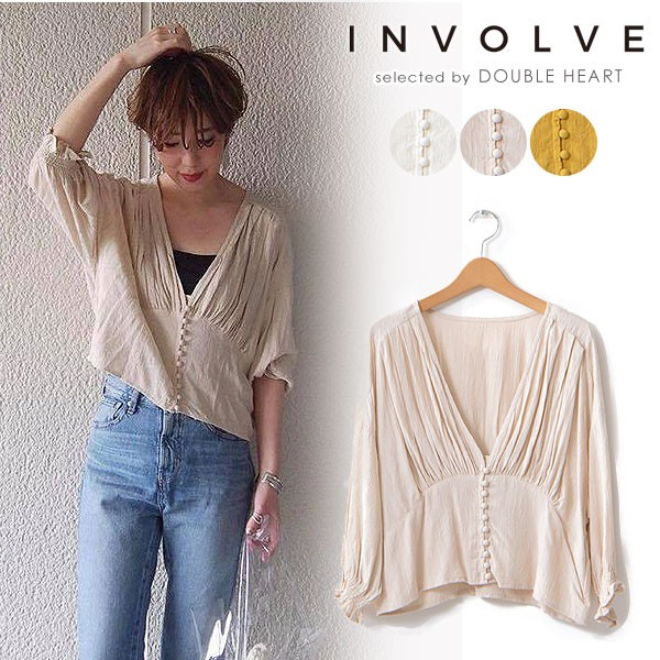 INVOLVE インボルブ short Length  blouse ブラ...