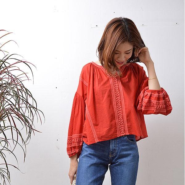 SALE INVOLVE インボルブ embroidery blouses エ...