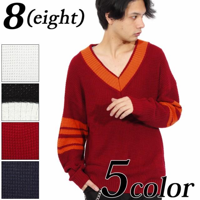 ニットセーター メンズ チルデン セーター 全5色 新作 ニットセーター チルデンセーター 8(eight) エイト 8