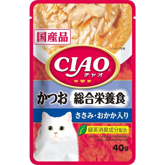 いなば CIAOパウチ 総合栄養食 かつお ささみ...